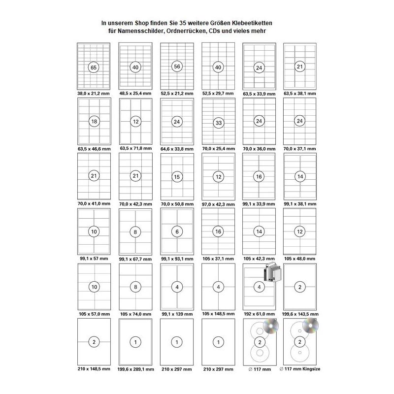 100 Blatt Paket Aufkleber Dhl Ups Dpd 210 X 1485 Mm Selbstklebend Din A4 200 St Etiketten Laser Copy Inkjet